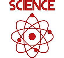 Science - Atom (Red) Photographic Print