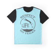 RESPECT LIFE - GO VEGAN Graphic T-Shirt