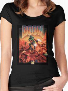 DOOM Original Cover Women's Fitted Scoop T-Shirt