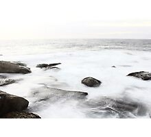 Long Exposure at Bondi Rocks 2 Photographic Print