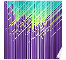 Cool purple dynamic lines Poster