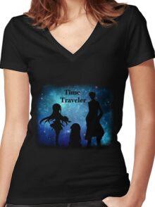 Time Traveler Women's Fitted V-Neck T-Shirt