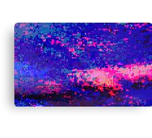 glitchy - clouds Canvas Print