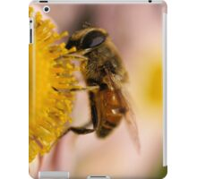Bee on the flower - super macro iPad Case/Skin