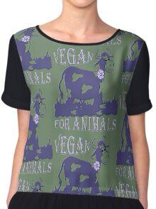 VEGAN FOR ANIMALS Chiffon Top