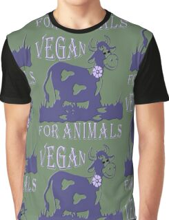 VEGAN FOR ANIMALS Graphic T-Shirt