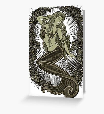 Song of the Siren, Gold Greeting Card