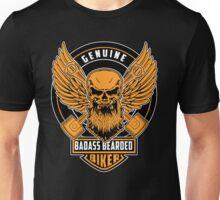Genuine Badass Bearded Biker Unisex T-Shirt