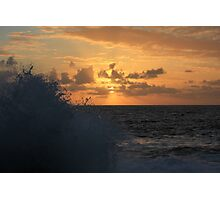 Sunrise and Sea Spray Photographic Print