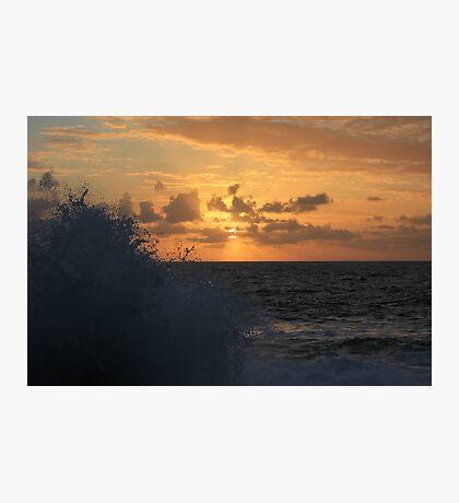 Sunrise and Sea Spray Photographic Print