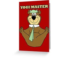 Yogi Master Greeting Card