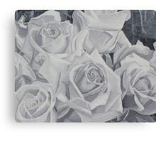 Gray Roses Canvas Print
