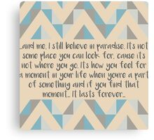 Believe In Paradise Canvas Print