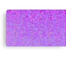 glitchy - purple Canvas Print