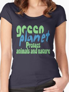 green planet - protect animals and nature Women's Fitted Scoop T-Shirt