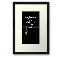 Keeper of the Keys: With Words Framed Print