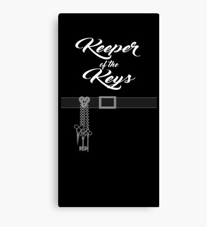 Keeper of the Keys: With Words Canvas Print