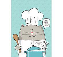 Cat Top Chef Photographic Print