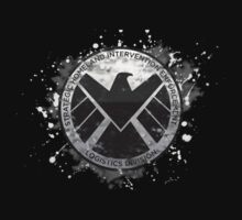 S.H.I.E.L.D Emblem (black background) One Piece - Short Sleeve