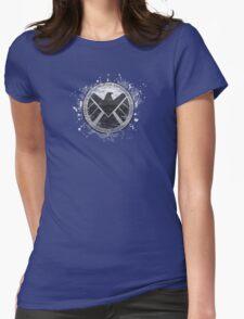 S.H.I.E.L.D Emblem (black background) Womens Fitted T-Shirt