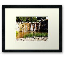Rocky Falls, Photo / Digital Painting  Framed Print