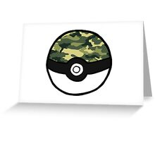Camo Pokeball Greeting Card