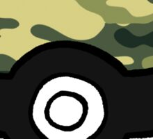 Camo Pokeball Sticker