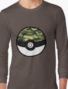 Camo Pokeball Long Sleeve T-Shirt