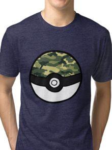 Camo Pokeball Tri-blend T-Shirt