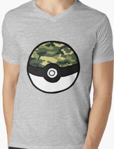Camo Pokeball Mens V-Neck T-Shirt
