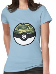 Camo Pokeball Womens Fitted T-Shirt