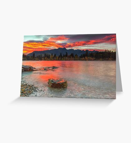 Scarlet Sunrise - Queenstown New Zealand Greeting Card