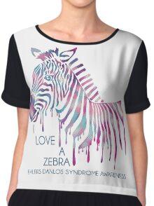 I Love A Zebra (EDS Awareness) Women's Chiffon Top