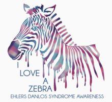 I Love A Zebra (EDS Awareness) One Piece - Short Sleeve