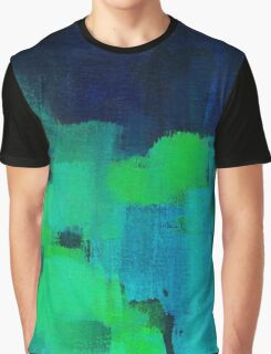 Blue and green abstract Graphic T-Shirt