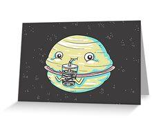 Faturn Greeting Card