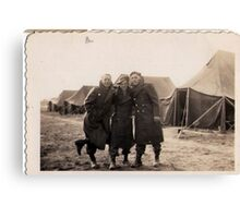 Casual Soldiers Circa WWII Canvas Print