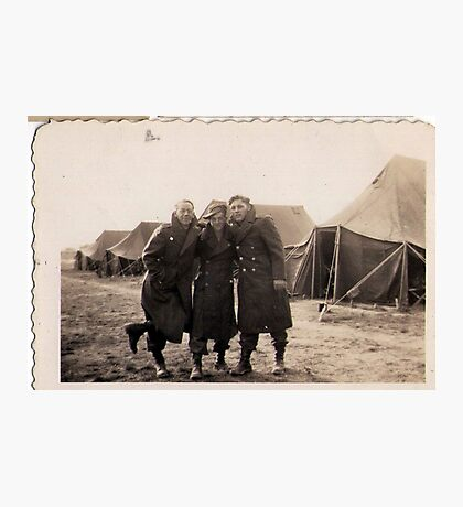Casual Soldiers Circa WWII Photographic Print