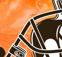 Cleveland Browns Logo Tie Dye Sticker