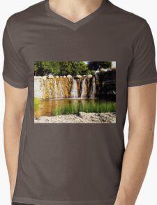Rocky Falls, Photo / Digital Painting  Mens V-Neck T-Shirt