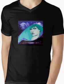 BLUE PERIOD Mens V-Neck T-Shirt