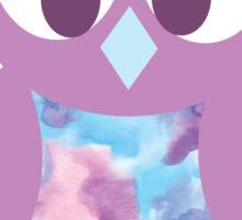 Purple Watercolor Owl Sticker
