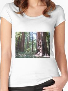 2015.08.09 1260020 California Redwoods Mike Stuart Women's Fitted Scoop T-Shirt