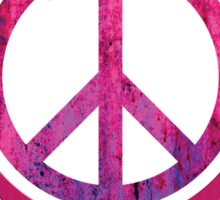 Peace Sign with Grunge Texture and Wings Sticker