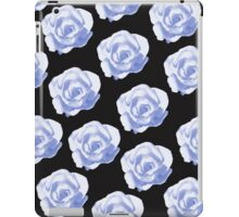 Blue roses on a black background iPad Case/Skin