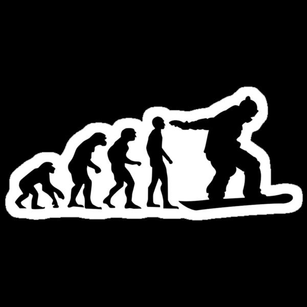 Snowboard Evolution by Dave  Gosling Designs