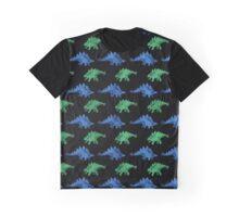 Stegosaurus Green & Blue Graphic T-Shirt
