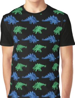 Stegosaurus Green & Blue Graphic T-Shirt