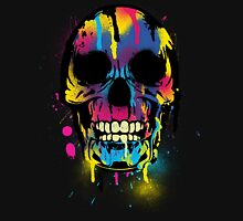 Cool Skull with Colorful Paint Drips and Splatters  Unisex T-Shirt