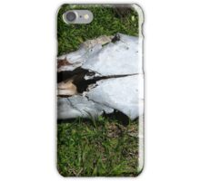Cow Skull With Bullet Hole iPhone Case/Skin